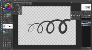 openCanvas7の操作画面