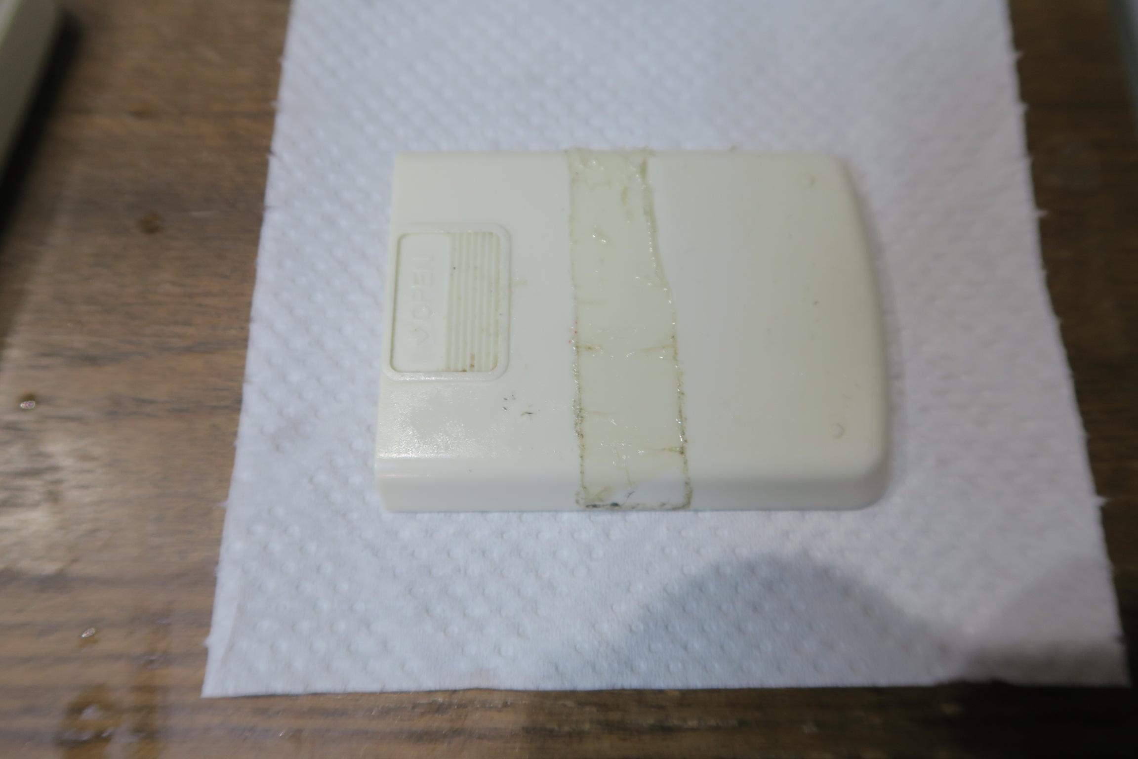 リモコンについたテープ跡