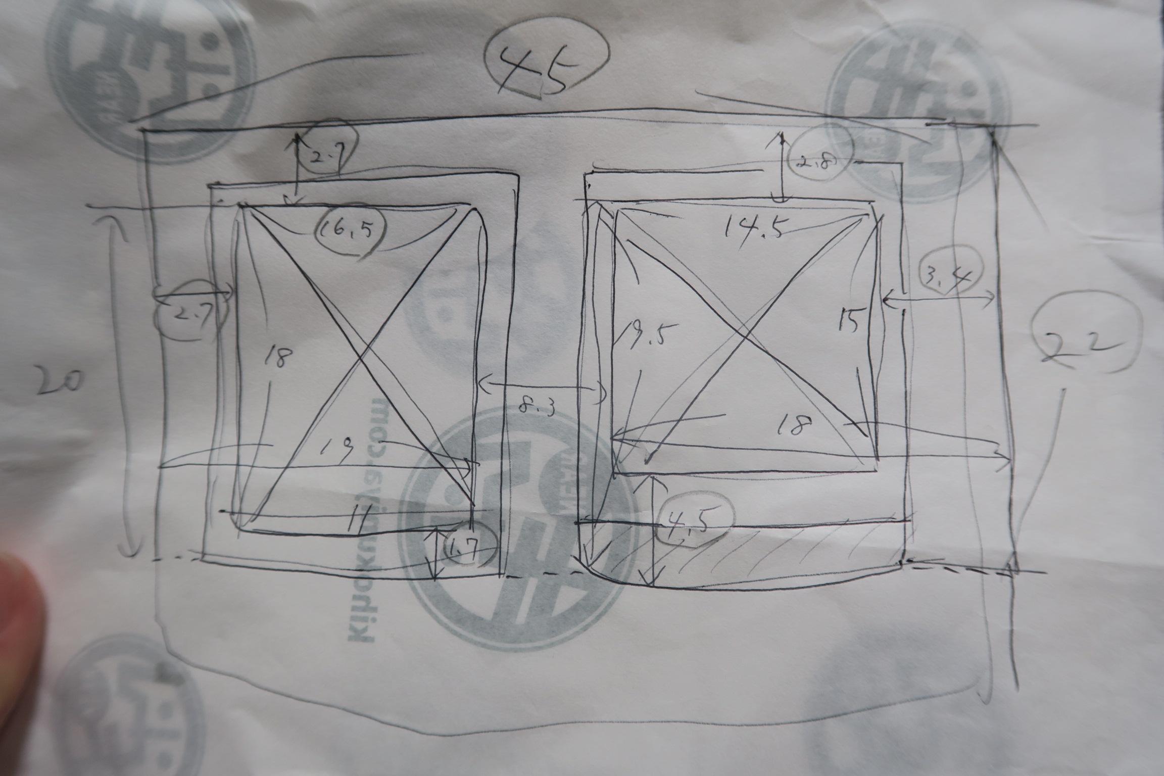 電気メーターボックスの採寸